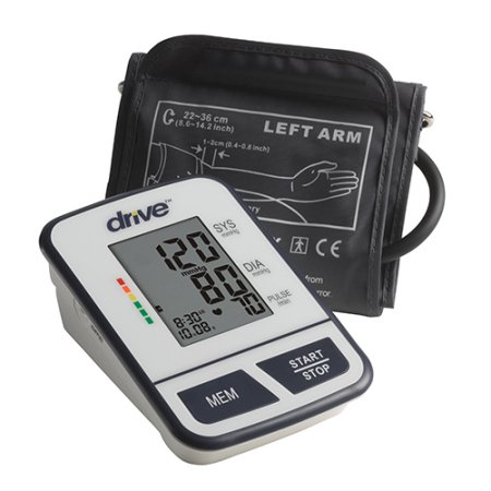 Airial Digital Blood Pressure Monitor with Compact,  8-1/2'' - 14'' Cuff Circumference