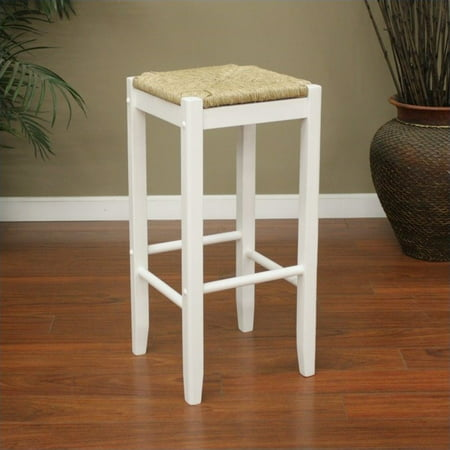 American Heritage Rattan Bar Stool In White Set Of 2