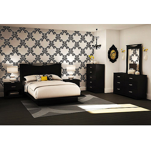 South Shore SoHo Full/Queen Storage Platform Bed and Headboard, Multiple Finishes