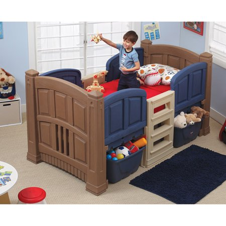Step2 Loft and Storage Twin Bed Blue. Step2 Loft and Storage Twin Bed Blue   Walmart com