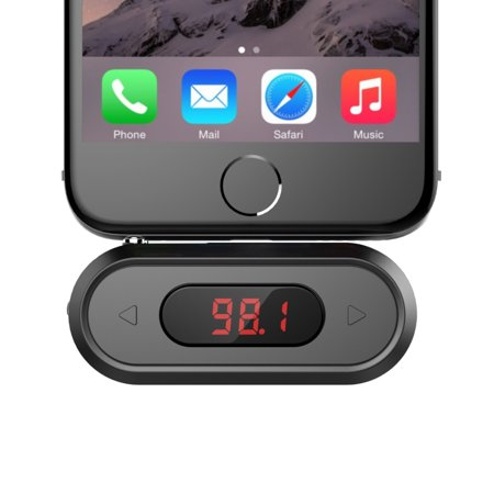 FM Transmitter, Doosl 3.5mm FM Transmitter Hands-free Calling Wireless Radio Car Kit, Compatible with iPhone, iPad, iPod, Samsung, HTC, MP3, MP4 and Most Devices with 3.5mm Audio Jack (Ipod Car Kit)