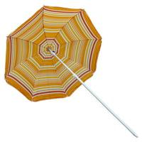 Astella 6' Beach Umbrella With Nylon Printed Stripes in Green Kiwi