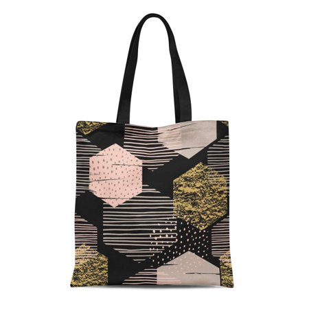 HATIART Canvas Tote Bag Pattern Abstract Geometric Modern for Users Trend Color Cool Durable Reusable Shopping Shoulder Grocery Bag - image 1 de 1