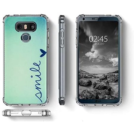 LUOLNH Compatible with LG G6 Case,LG G6 Case with Flower,Slim Shockproof Clear Floral Pattern Soft Flexible TPU Back - image 1 de 5