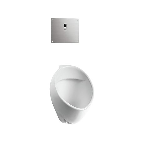 TOTO UT105UVG#01 Commercial 1/8 GPF Wall Mounted Urinal with CeFiONtect and 3/4 in. Back Spud Inlet (Cotton