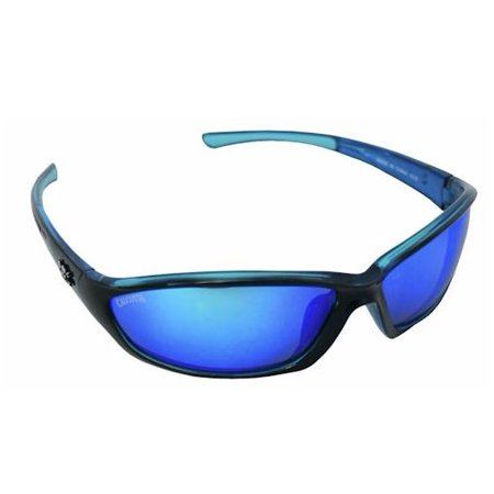 Calcutta Backspray Sunglasses, Black / Blue Frame, Blue Mirror Lens (Blue Lens Sunglasses Polarized)