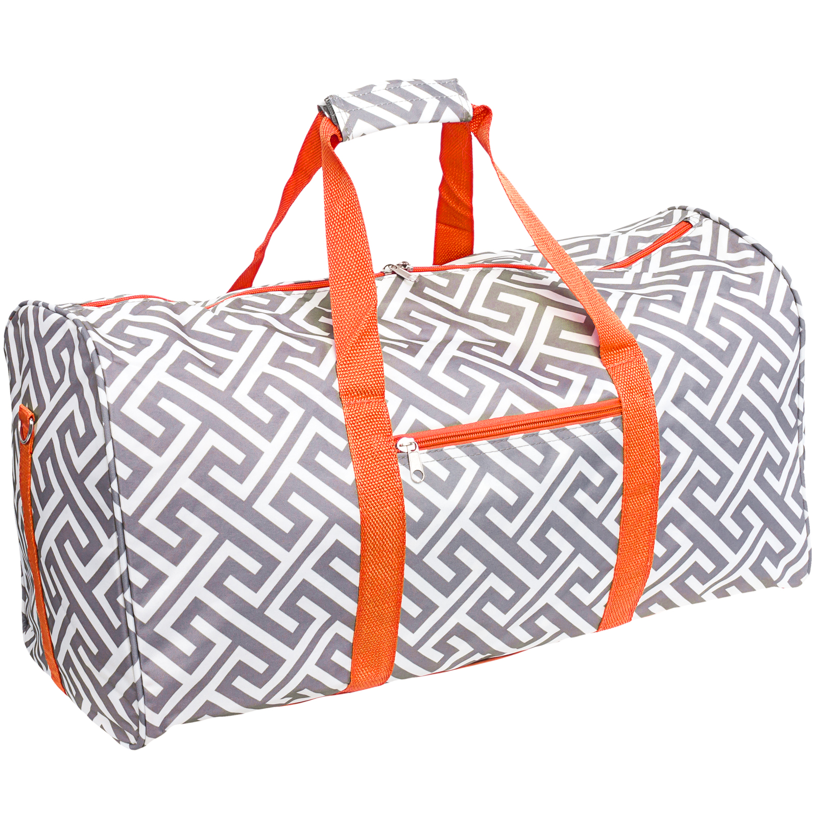 "SILVERHOOKS New Greek Key 22"" Duffle Duffel Travel Carry-On Bag by Gen SH"