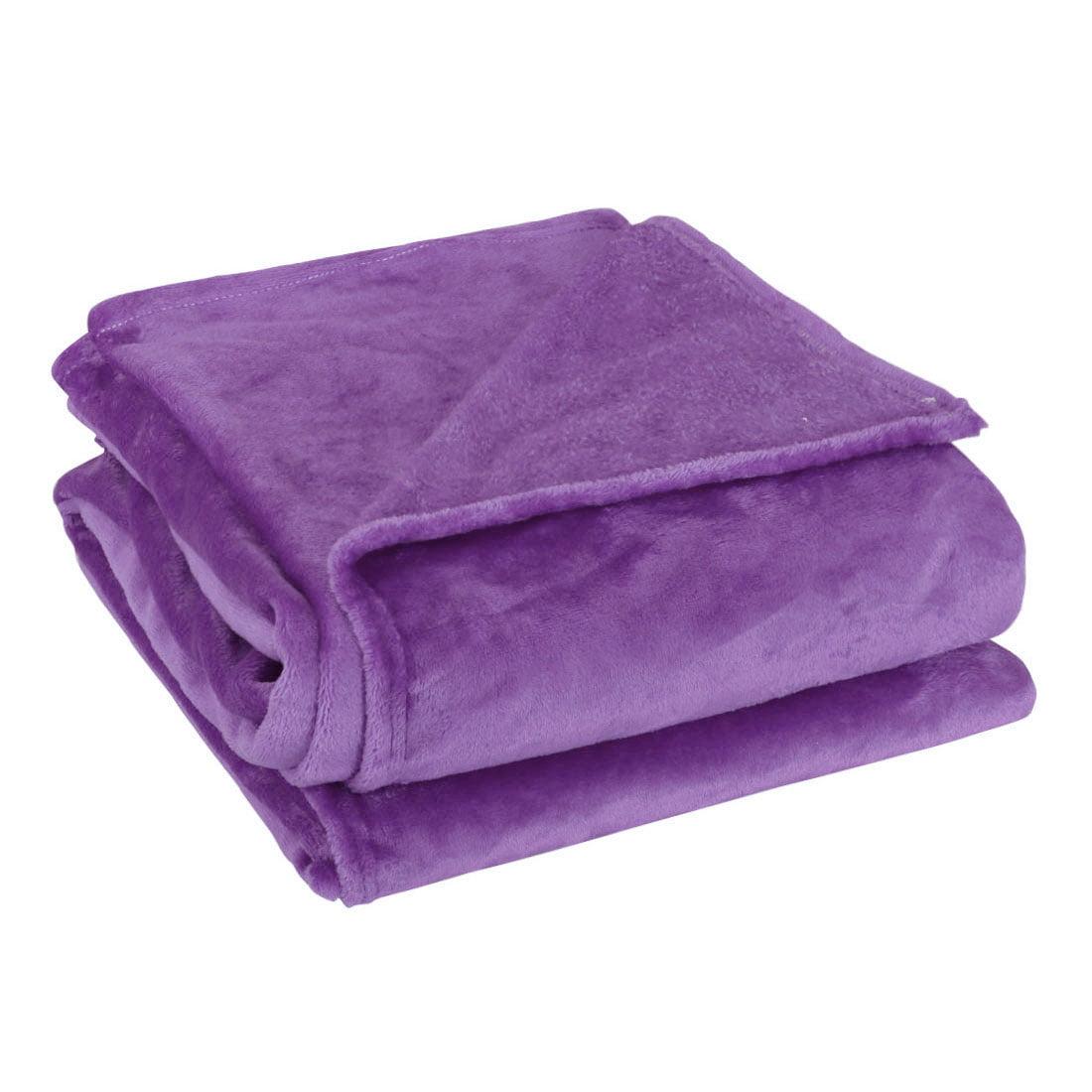 Dark Purple 71 X 78 Inch Home Bed Sofa Soft Fleece Throws Blanket Warm Full
