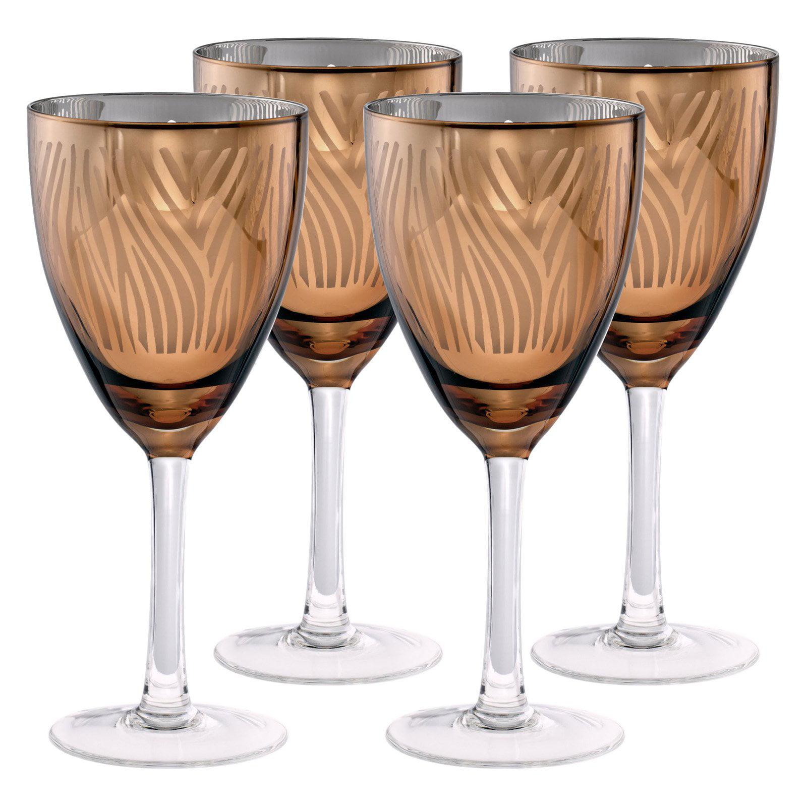 Artland Inc. Zebra Gold Wine Glasses Set of 4 by Artland