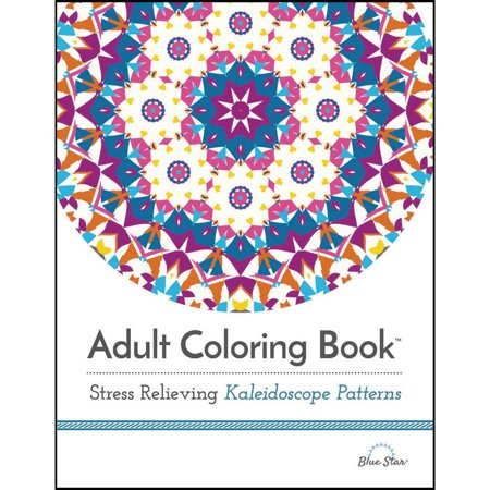 Adult Coloring Book Stress Relieving Kaleidoscope