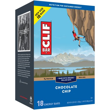 CLIF Bar Chocolate Chip Energy Bars 18-2.4 oz.