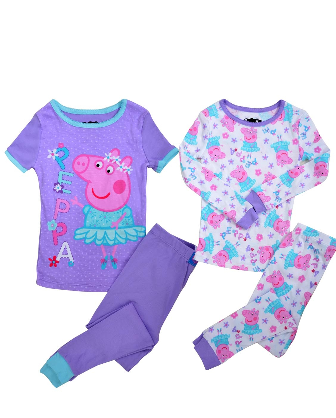 PEPPA PIG GIRLS' BALLERINA 4-PIECE PAJAMA SET