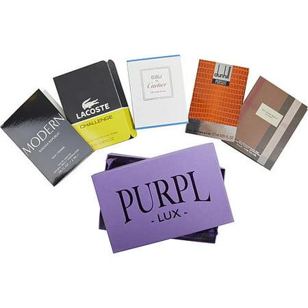 PURPL LUX SUBSCRIPTION BOX FOR MEN by  - $BURBERRY LONDON - $EAU DE CARTIER VETIVER BLEU - $LACOSTE CHALLENGE - $DUNHILL PURSUIT - $BANANA REPUBLIC MODERN -