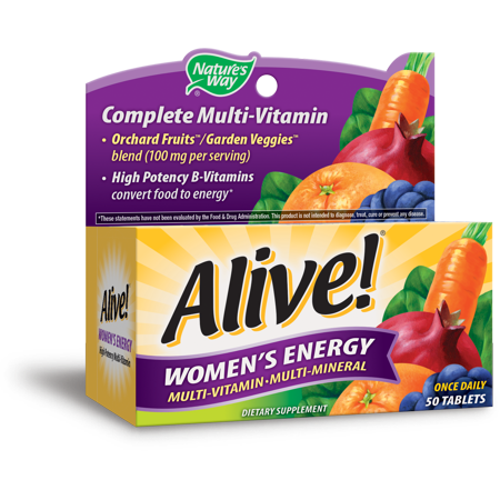 (2 pack) Nature's Way Alive! Women's Energy Multivitamin Supplement Tablets, 50