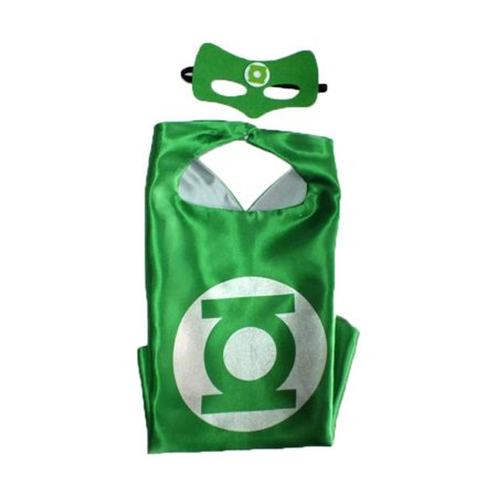 Deluxe Green Lantern Costume (DC Comics Costume - Green Lantern Logo Cape and Mask with Gift Box by)
