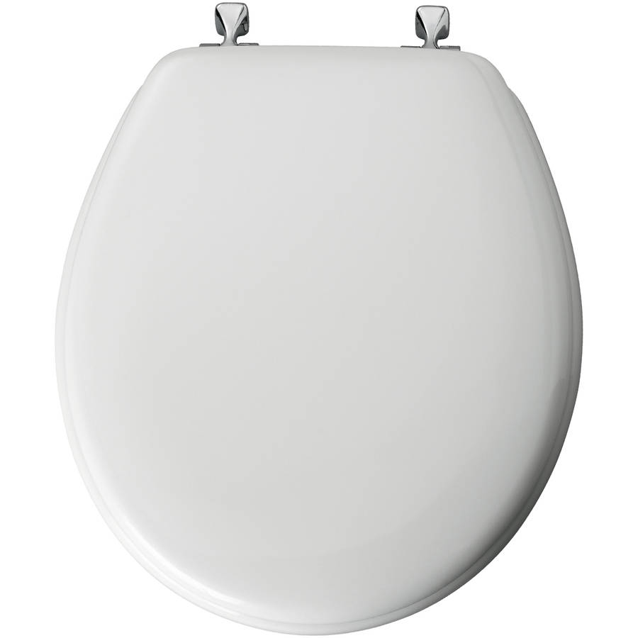Mayfair White Enamel Toilet Seat by Bemis Mfg-div Of Mayfair