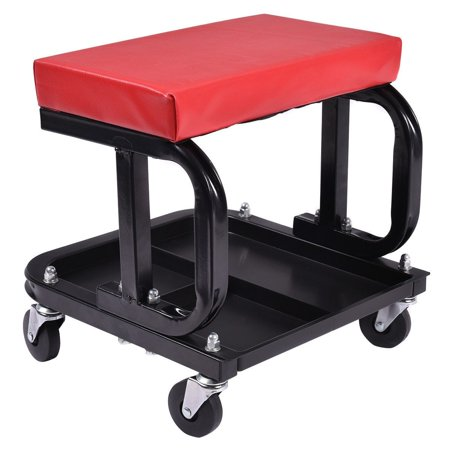 Rolling Creeper Seat Mechanic Stool Chair Repair Tools Tray Shop Auto Car Garage