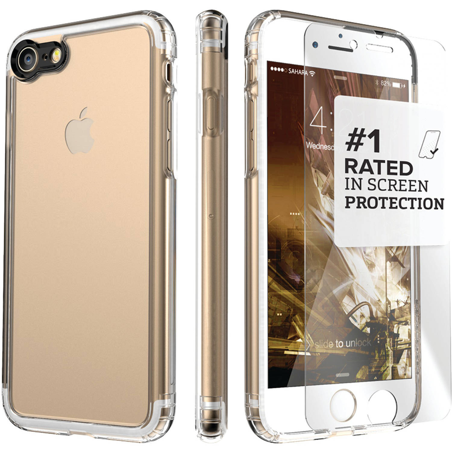 Saharacase Apple iPhone 7 Plus Clear Protective Kit