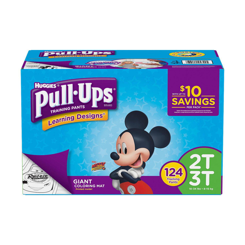 Huggies Pull-ups Training Pants for Boys 2T/3T Boys (124 ct.)