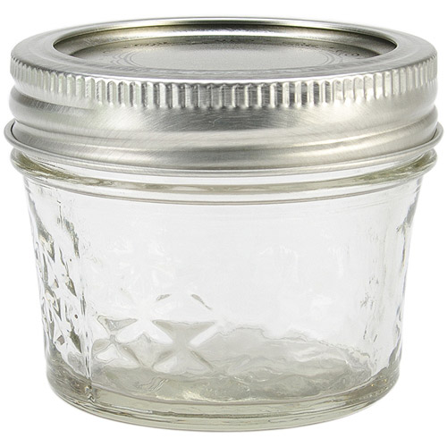 Ball Quilted Crystal Jelly Jars