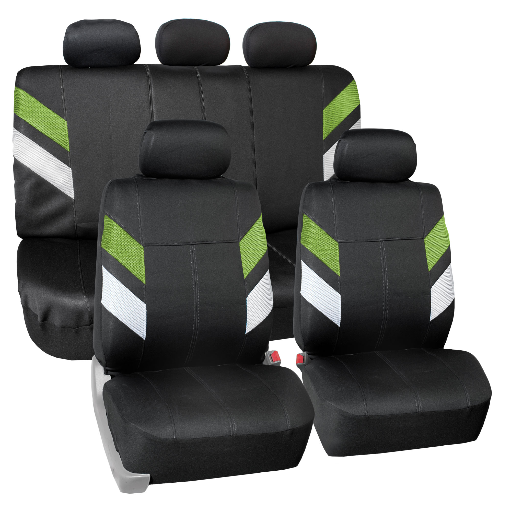 FH Group, Neoprene Car Seat Covers for Auto Car SUV Van Completerest Full Set 12 Colors