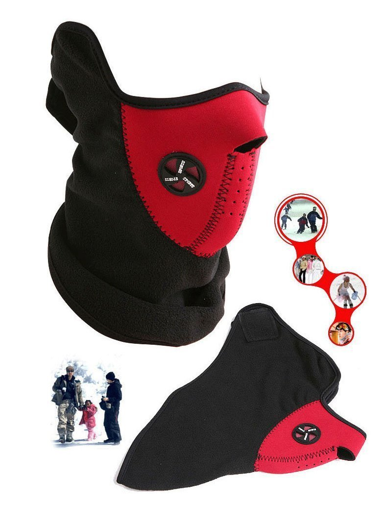 Red Color Neck Warmer Face Mask Cycling Motorcycle Bike Ski Helmet Wind Veil Snowboard AOSTEK(TM) by