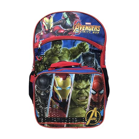 Boys Avengers Infinity War Backpack with Detachable Insulated Lunch Bag