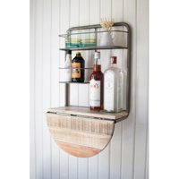 e221d33ba9af Product Image Gracie Oaks Adairsville Drop Leaf Recycled Wood Mini Bar