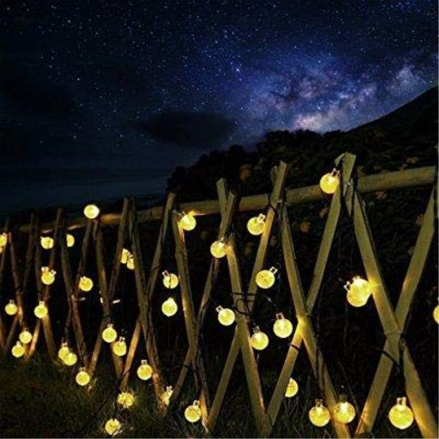 Beau Crystal Ball Bubble Outdoor Solar Lights Strings 30 LED Globe Waterproof  Decorative String Lights Solar Powered