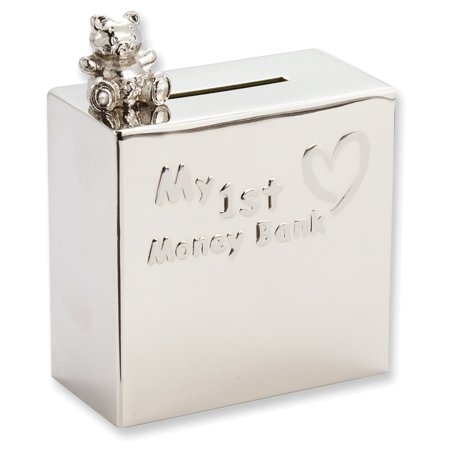 Nickel Plated Baby My 1St Money Bank