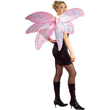 Adult Pink Pixie Fairy Butterfly Wings Halloween Costume Accessory (Butterfly Adult Costumes)