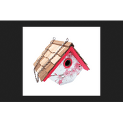 Home Bazaar 7 in. H Wood Bird House