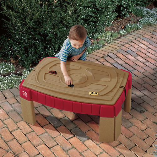 Walmart & Step2 Naturally Playful Sand Table Includes Cover 2 Shovels Rakes And Bucket