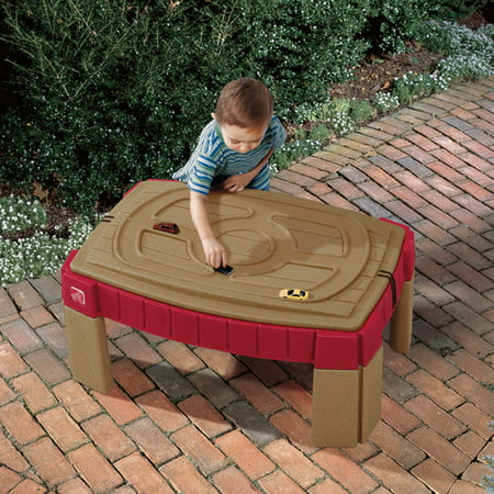 3 Tub Sand N-water Table - Step2 Naturally Playful Sand Table Includes cover, 2 shovels, 2 claw rakes, and a bucket