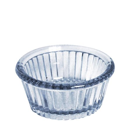 Ramekin Fluted Clear 4.5oz