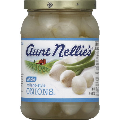 Aunt Nellie's Whole Holland-Style Onions, 15 oz (Pack of 6)