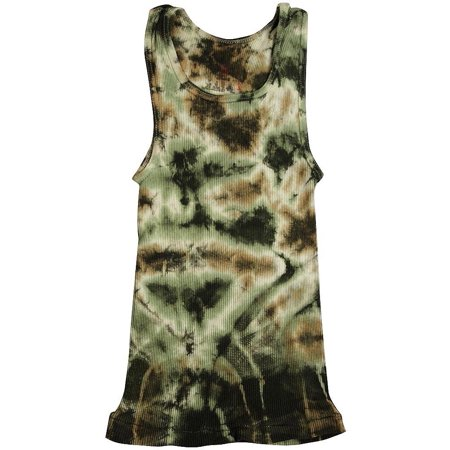 2d5f46cd1a35ee Hanes - Hanes - Big Girls Ribbed Tie Dye Tank Top Olive Tan   X-Large -  Walmart.com