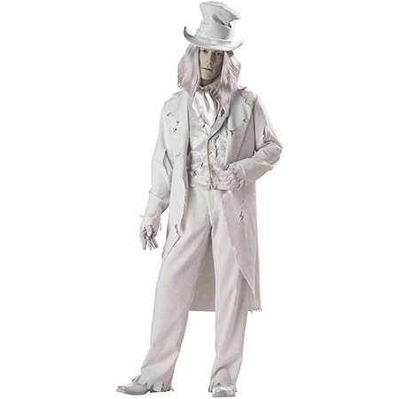 Ghostly Gent Adult Halloween Costume](Ghostly Ghoul Costume)