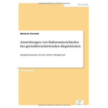 Auswirkungen Von Kulturunterschieden Bei Grenzuberschreitenden Akquisitionen - image 1 of 1