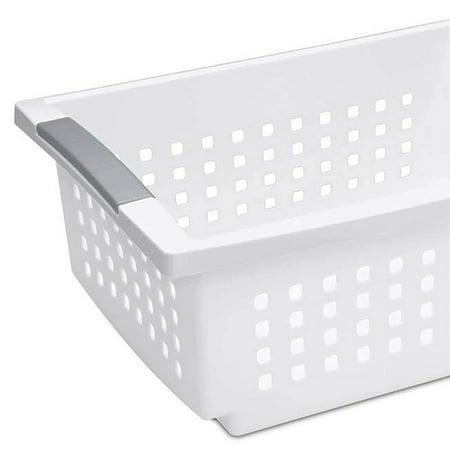 Sterilite Large Ultra Storage Organizer Basket (6 Pack) + Stacking Bins (6 Pack) - image 8 de 11
