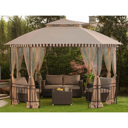 Sunjoy 10 X 12 Ft Soft Top Gazebo With Mosquito Netting