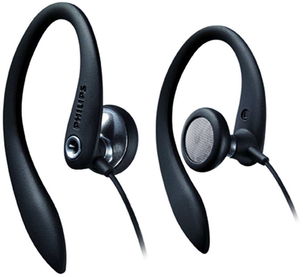 <mark>Philips</mark> SHS3200BK/37 Flexible Earhook <mark>Headphones</mark>, Black