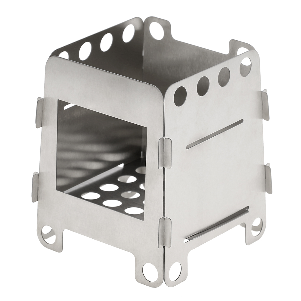 Titanium Wood Stove Lightweight Foldable Camping Wood Stove Outdoor Stove