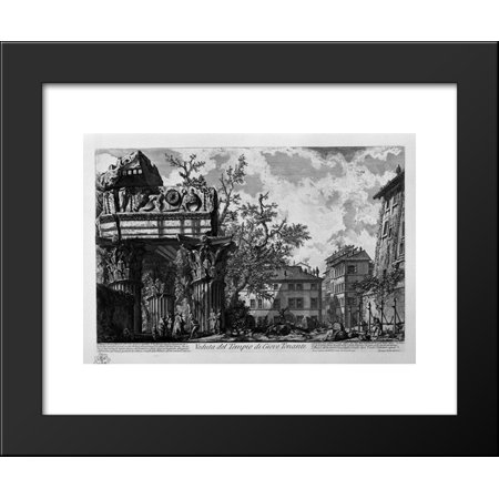 View Of The Temple Of Jupiter The Thunderer 20X24 Framed Art Print By Piranes