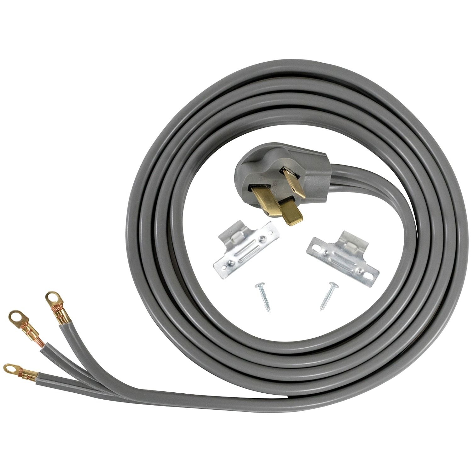 Certified Appliance Accessories 90-1088 3-Wire Closed-Eyelet 50-Amp Range Cord, 10Ft