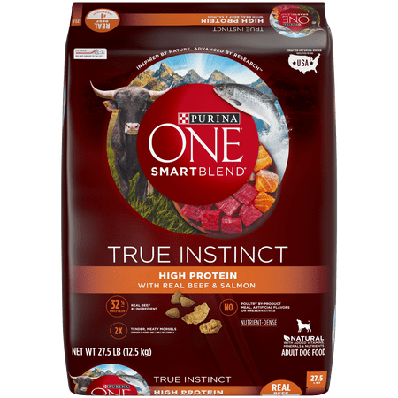 Purina ONE Natural, High Protein Dry Dog Food, SmartBlend True Instinct With Real Beef & Salmon - 27.5 lb.