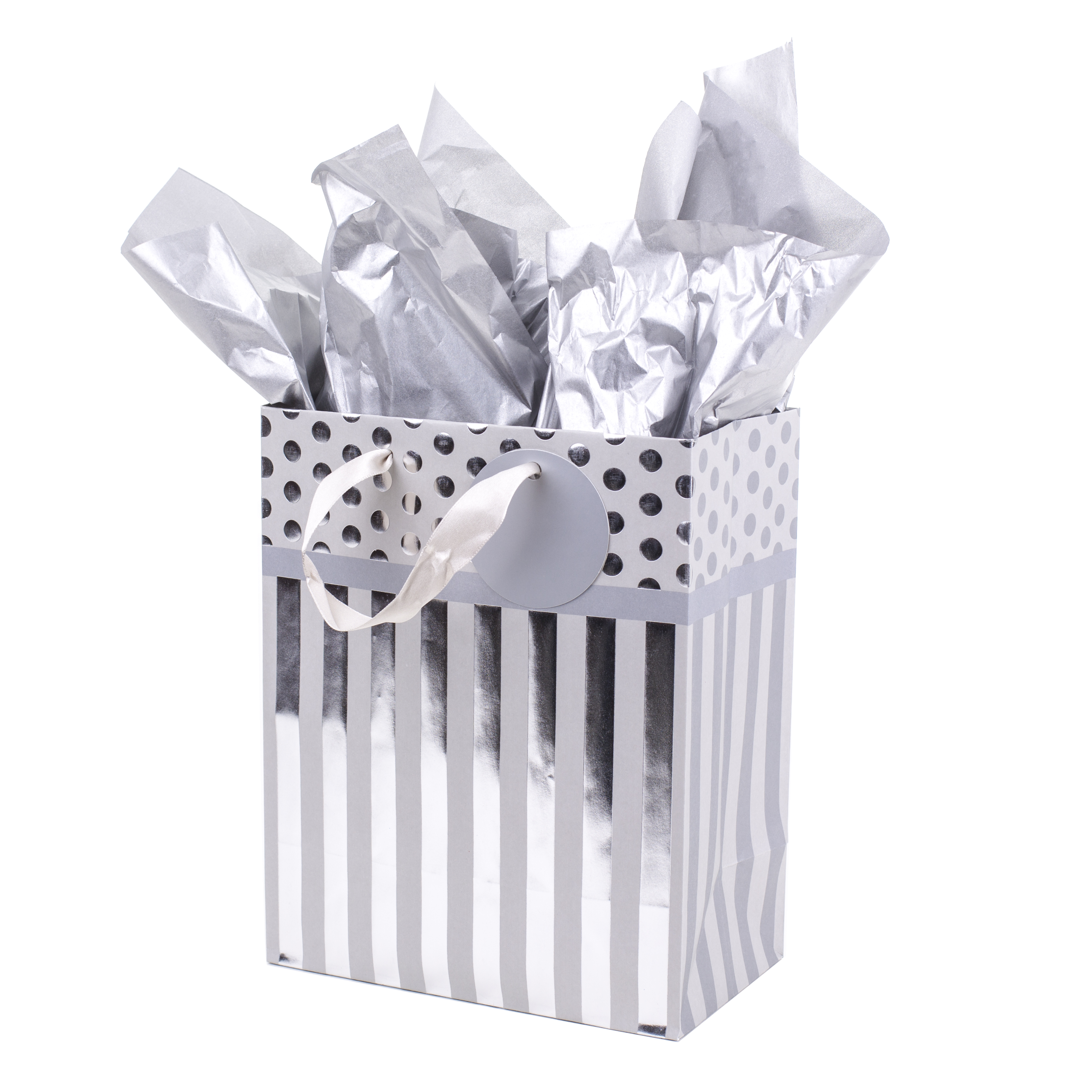 Hallmark Silver Stripes Medium Gift Bag with Tissue Paper  sc 1 st  Walmart & Chinet Classic White Dinner Paper Plates 10 3/8
