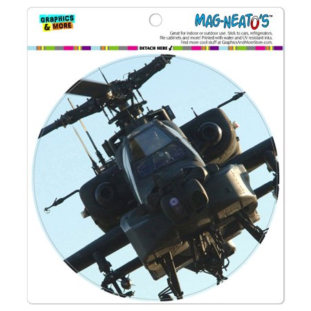 Apache Helicopter - Circle MAG-NEATO'S(TM) Car/Refrigerator Magnet