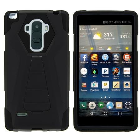 official photos a848c e8fb7 TurtleArmor ®   For LG G Stylo   LG G4 Stylus [Dynamic Shell] Dual Layer  Hybrid Silicone Hard Shell Kickstand Case - Black
