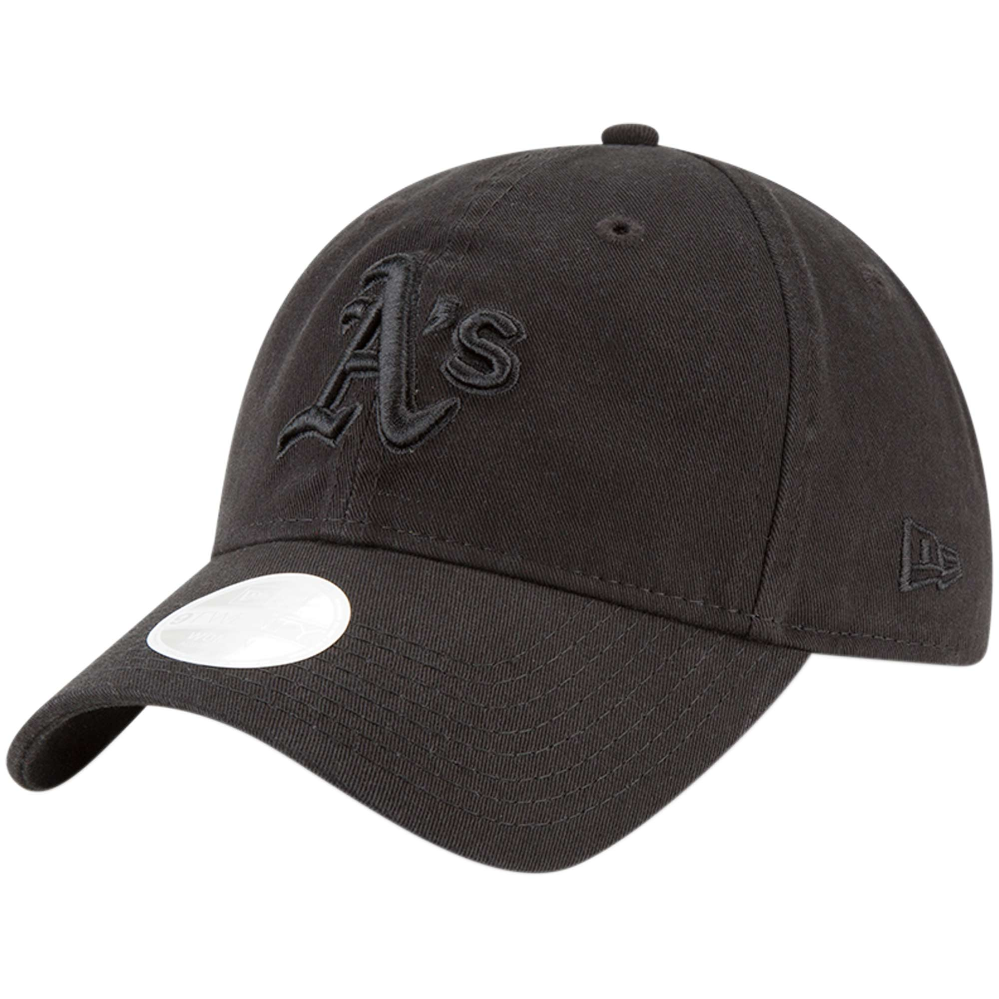Oakland Athletics New Era Women's 9TWENTY Core Classic Twill Adjustable Hat - Black - OSFA